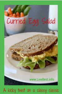 Curry Egg Salad Recipe | Plain Greek yogurt's tangy flavor, protein and calcium make this a healthy winner, while lowering the calories! That's what I look for in a recipe that helps me LiveBest! www.LiveBest.info