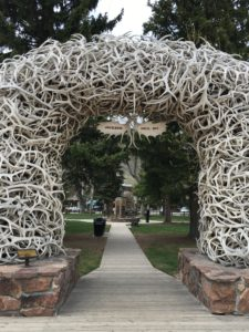 Antler arch in jackson wyoming