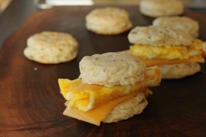 Chive Cracked Pepper Biscuit Sandwich * www.LiveBest.info