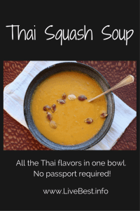 Thai Squash Soup | Satisfying, heart, healthy soup recipe from www.LiveBest.info