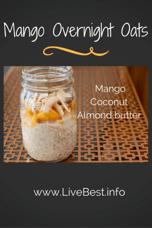 Overnight Oats | These are soooo good. Breakfast is more interesting when you spoon into almond butter and mango or peanut butter and strawberries! An easy, make ahead breakfast. www.LiveBest.info
