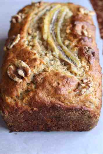 Banana Walnut Bread loaf