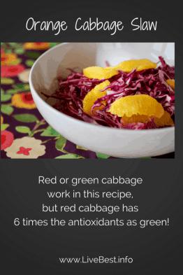 orange cabbage slaw