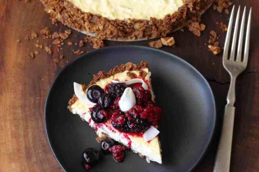 Coconut Fruit Tart with Berries