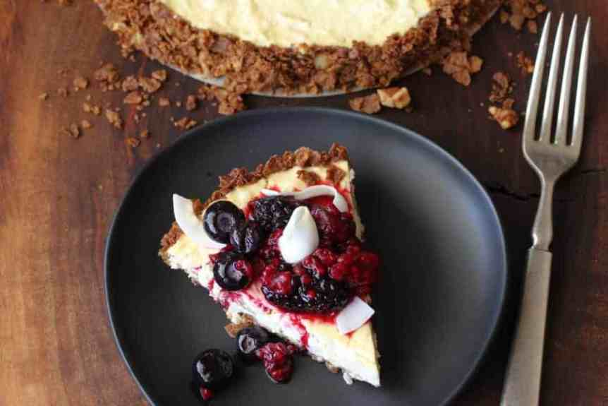 Coconut Fruit Tart with Berries