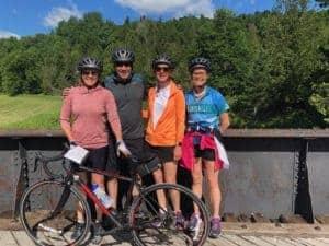 Bike ride in Quebec