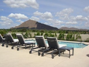 View from the Roofdeck Pool at The Mark - Old Town Scottsdale, AZ