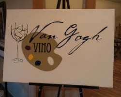 Carrie Curran Van Gogh Vino Painting Scottsdale AZ
