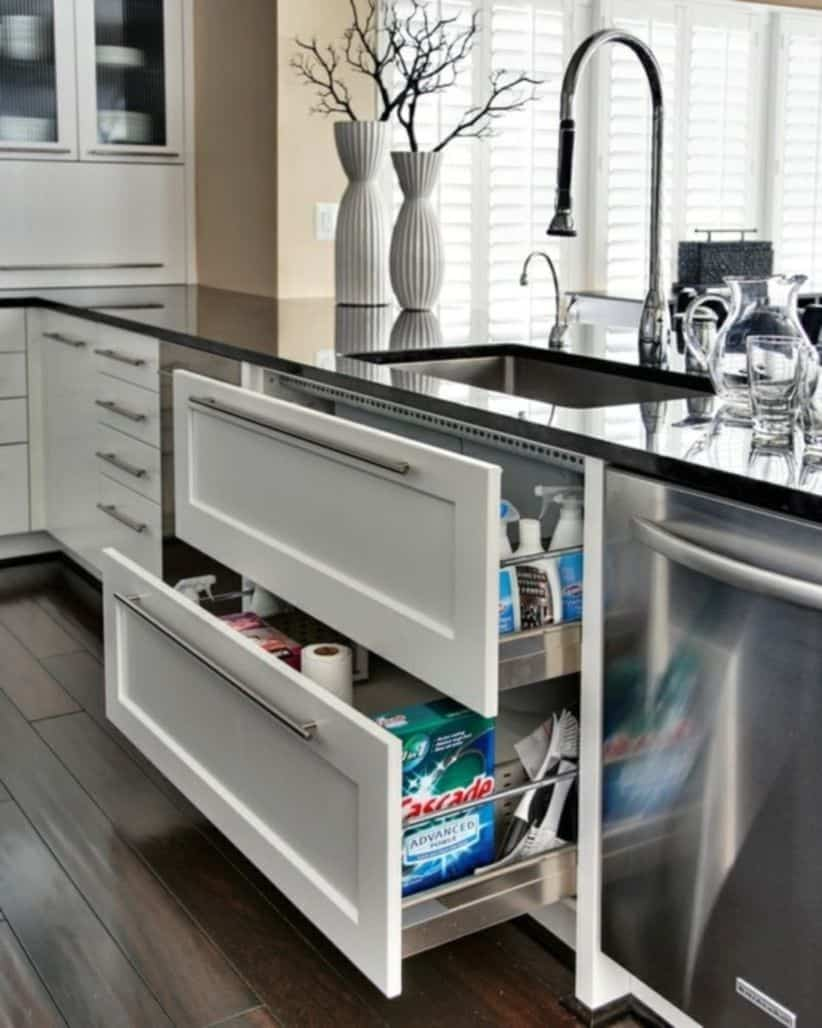 kitchen sink organization ideas