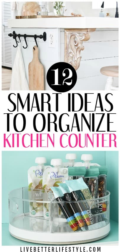 kitchen countertop organization ideas
