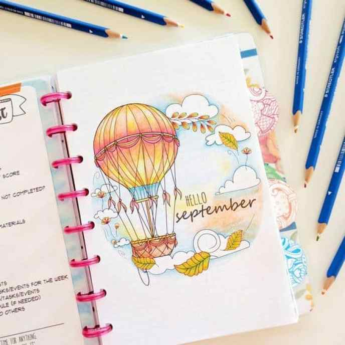 bullet journal page ideas, bullet journal weekly spread, Bullet Journal Cover Layouts For a Whole Year
