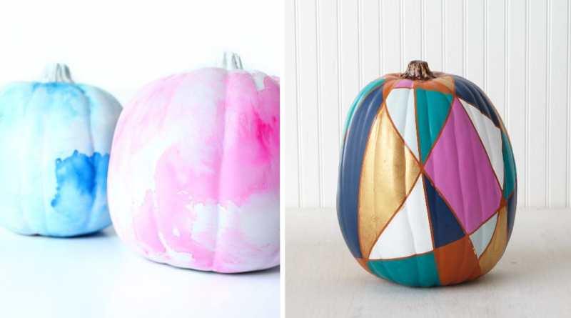 18 Creative DIY Painted Pumpkin Ideas