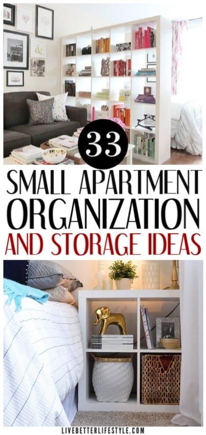 33 Brilliant Small Apartment Organization Ideas