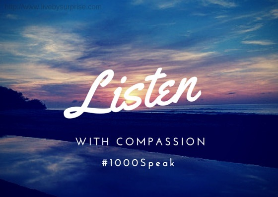#1000Speak - Listen to your Children with Compassion
