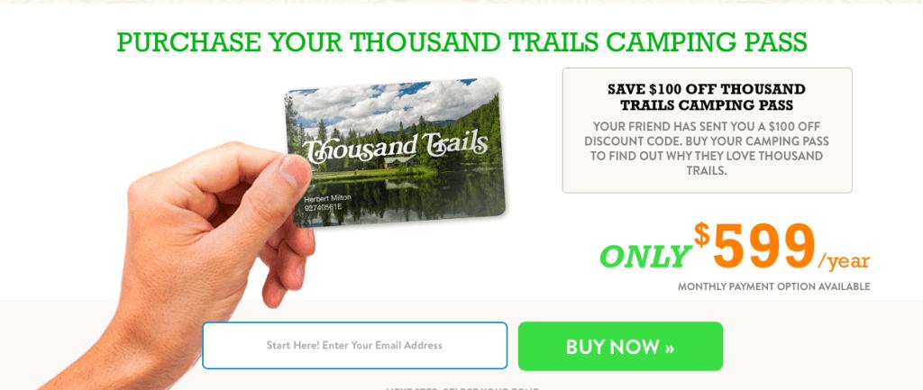 Thousand Trails Membership Zone Pass Discount