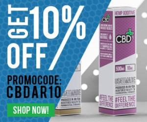 CBD FX 10% OFF Banner