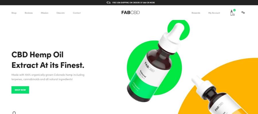 Fab CBD Website