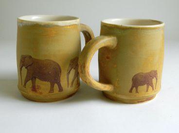 yellow elephant mugs