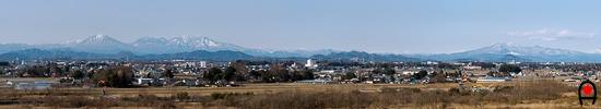 宇都宮と日光・那須の山々の写真
