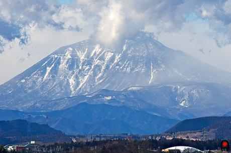 鬼怒グリーンパークからの男体山の写真