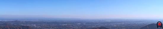 古賀志山東稜見晴らし台からの眺めの