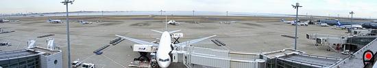 羽田空港第2国内線ターミナル展望デッキ右からの眺めの写真