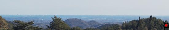 花立自然公園展望広場(海の見える丘)からの眺め望遠の写真
