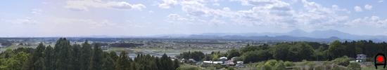 台新田展望台からの眺めの写真
