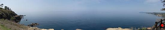 ヤセの断崖からの眺め