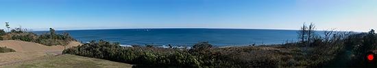 鹿島灘海浜公園見晴の丘からの太平洋