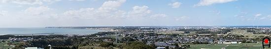 地球が丸く見える丘展望館からの眺め