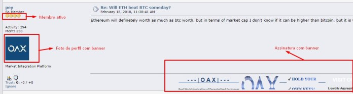 Assinatura Perfil Bitcoin Talk
