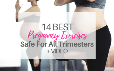 14 Best Pregnancy Exercises-Safe for All Trimesters | VIDEO