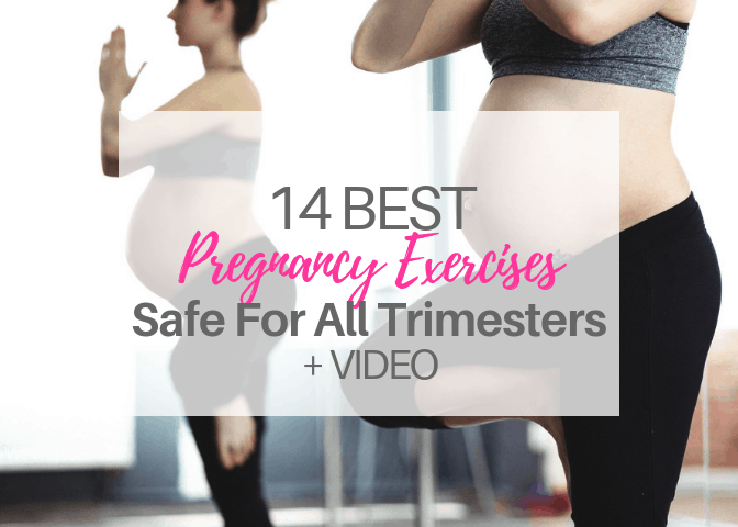 14 Best Pregnancy Exercises-Safe for All Trimesters   VIDEO