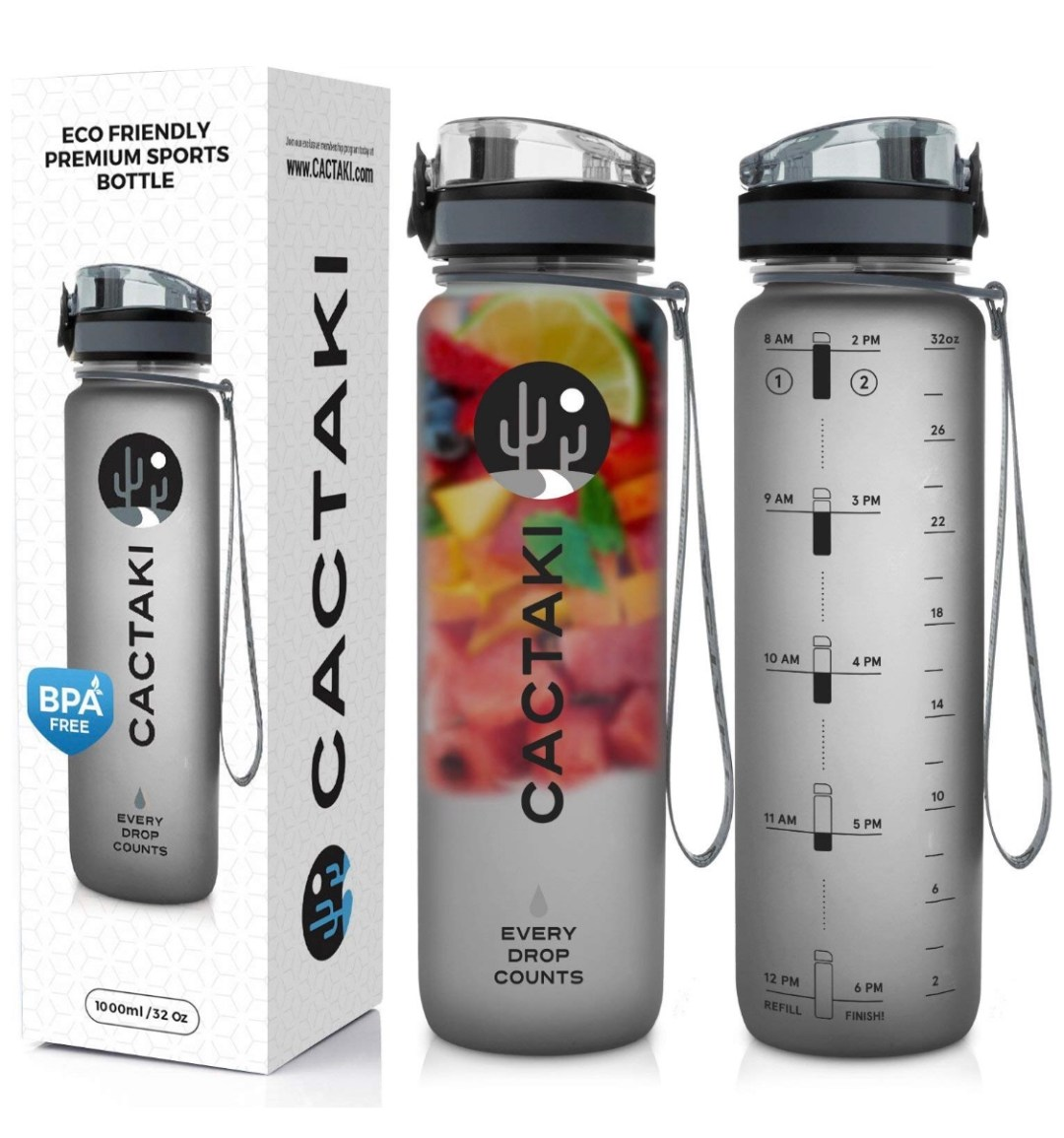 Water Bottle With Timer Marker, BPA Free