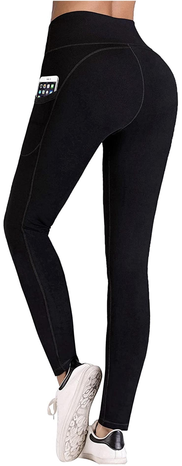 High Waist Workout Pants with Pockets, Tummy Control