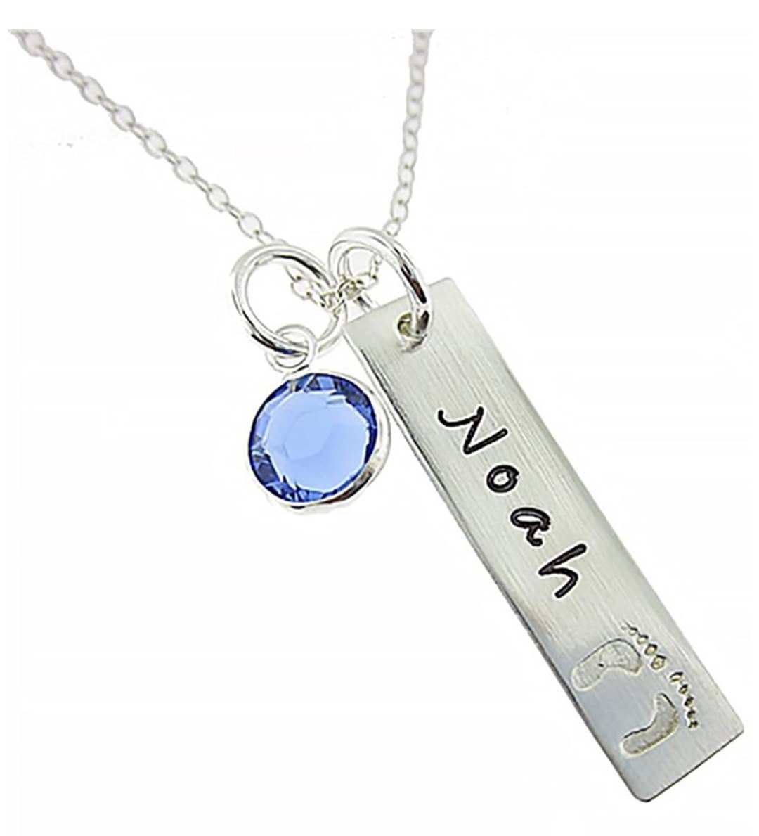 My Tiny Prints Personalized Sterling Silver Name Necklace