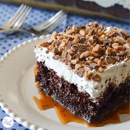 Chocolate Caramel Poke Cake Recipe 4 Ingredients Live