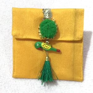 Yellow parrot small shagun envelop