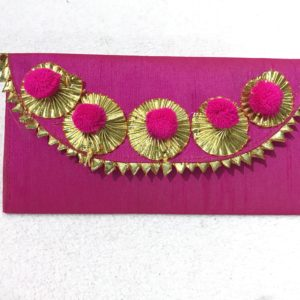 Magenta Gota Shagun Envelope with Magnetic Lock