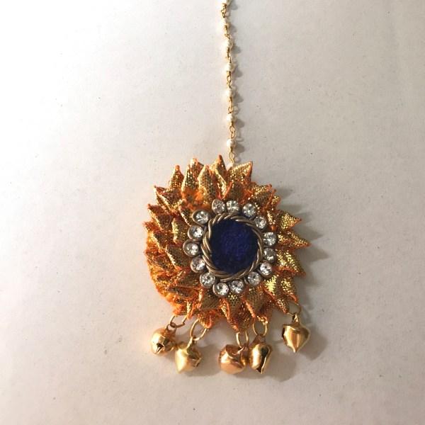 Blue Gota Jewellery Tikka for Haldi