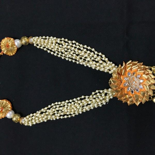Yellow Gota Jewellery Necklace for Haldi