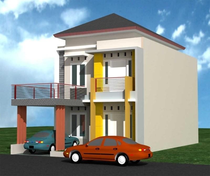 Desain Rumah Minimalis Modern 2 Lantai Tampak Depan With Model Rumah