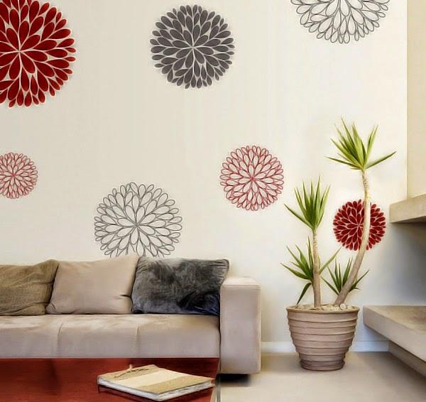 Desain Hiasan Dinding Bunga Desain Rumah Minimalis