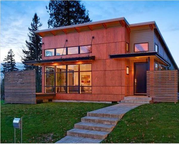 Rumah Kayu Minimalis Terbaru 19 Desain Rumah Minimalis