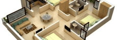 15 Denah Rumah 3 Kamar Minimalis 3D Terbaru 2017