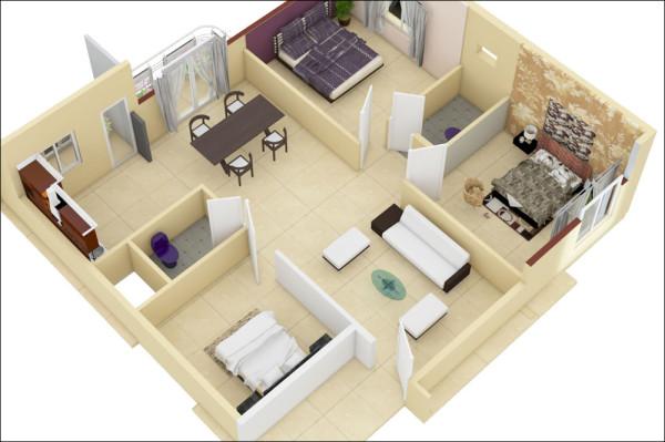 Desain Rumah Minimalis 1 Lantai 3 Kamar Tidur 1 Desain Rumah Minimalis