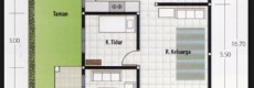 Denah Rumah 3 Kamar Ukuran 6×12 Terbaik dan Terbaru