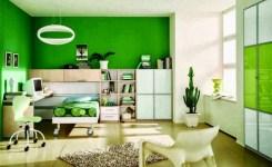 Perpaduan warna cat rumah bagian dalam hijau