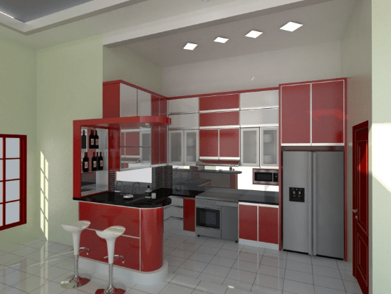Harga kitchen set aluminium per meter terbaru dan murah for Biaya kitchen set per meter